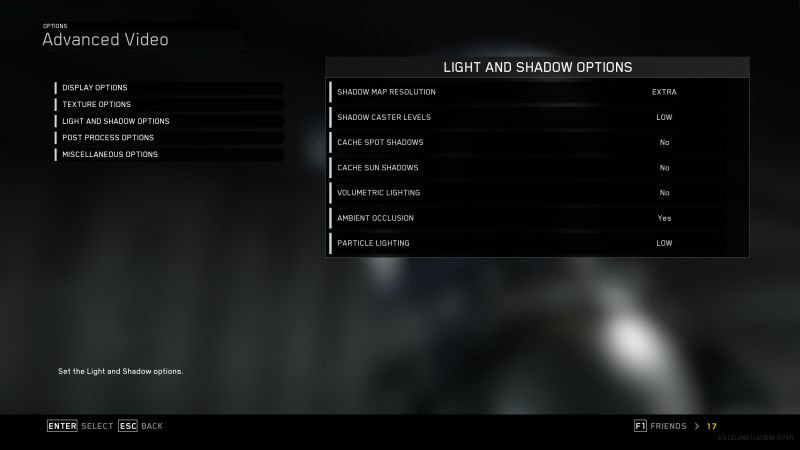 Optimal Light And Shadow Options