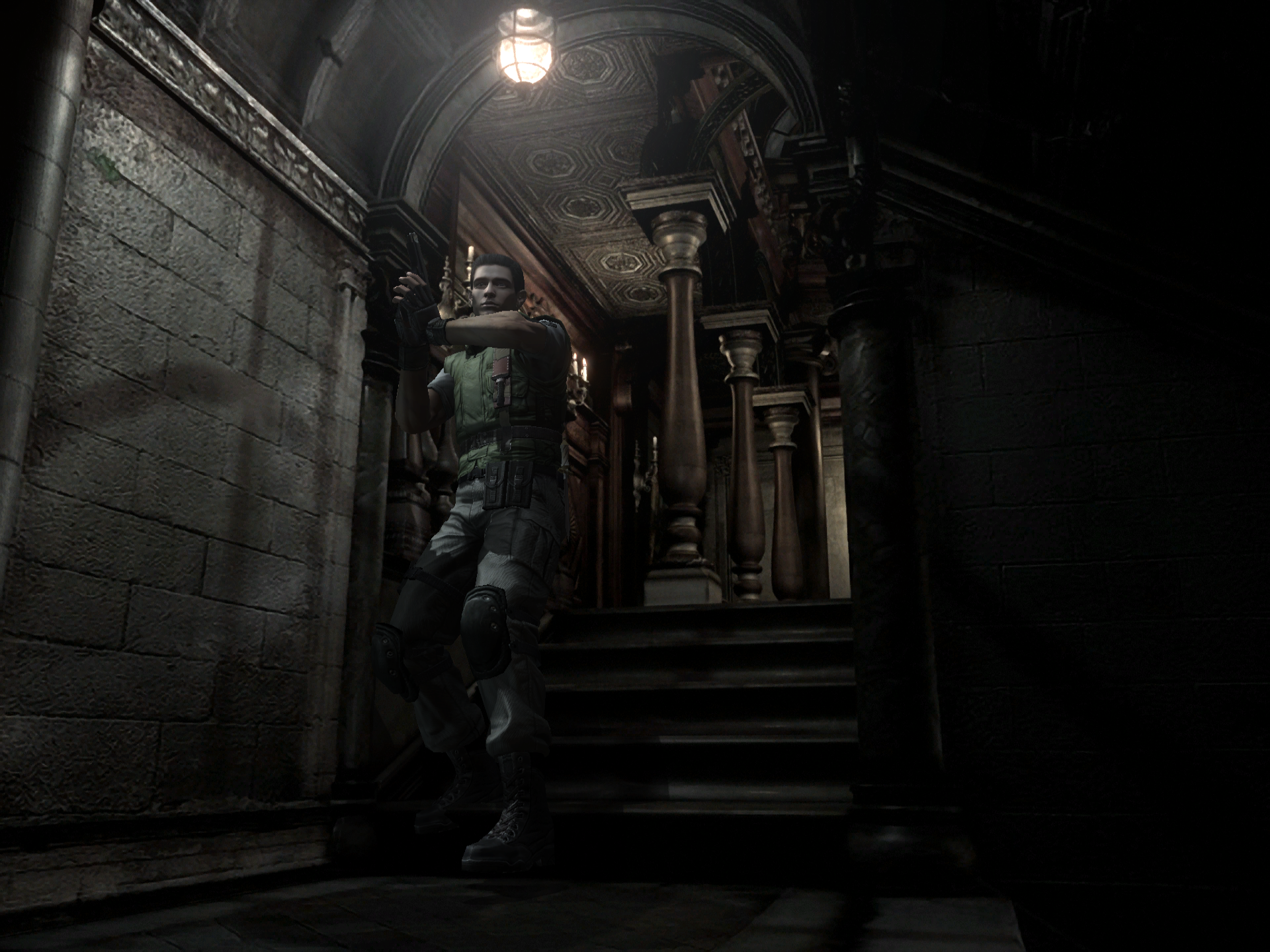 RE1 real time graphics mod