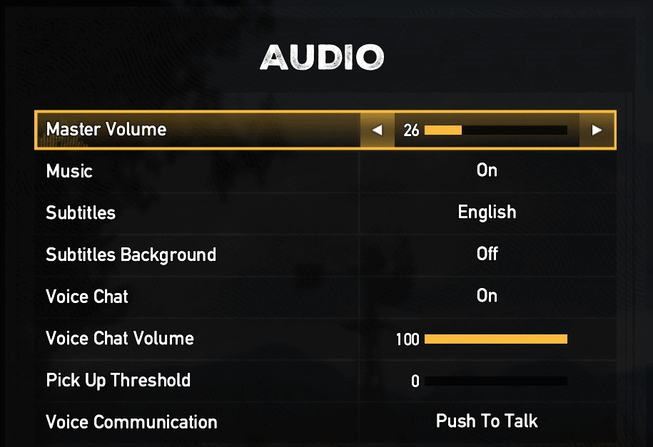 FC5 Audio Settings