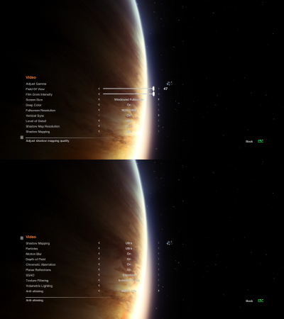 Alien Isolation Video Settings