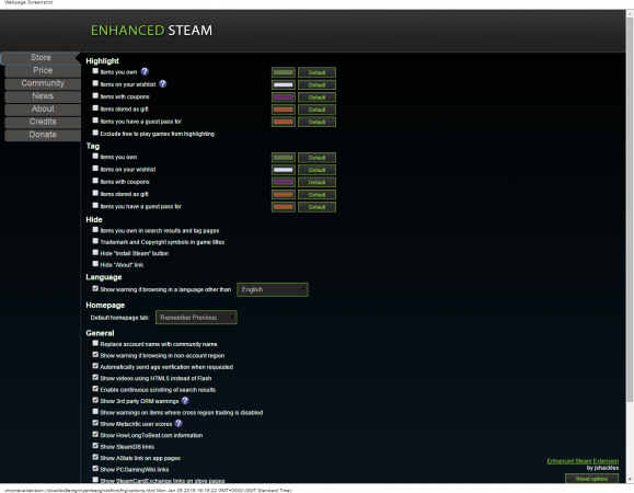 Enhanced Steam Options