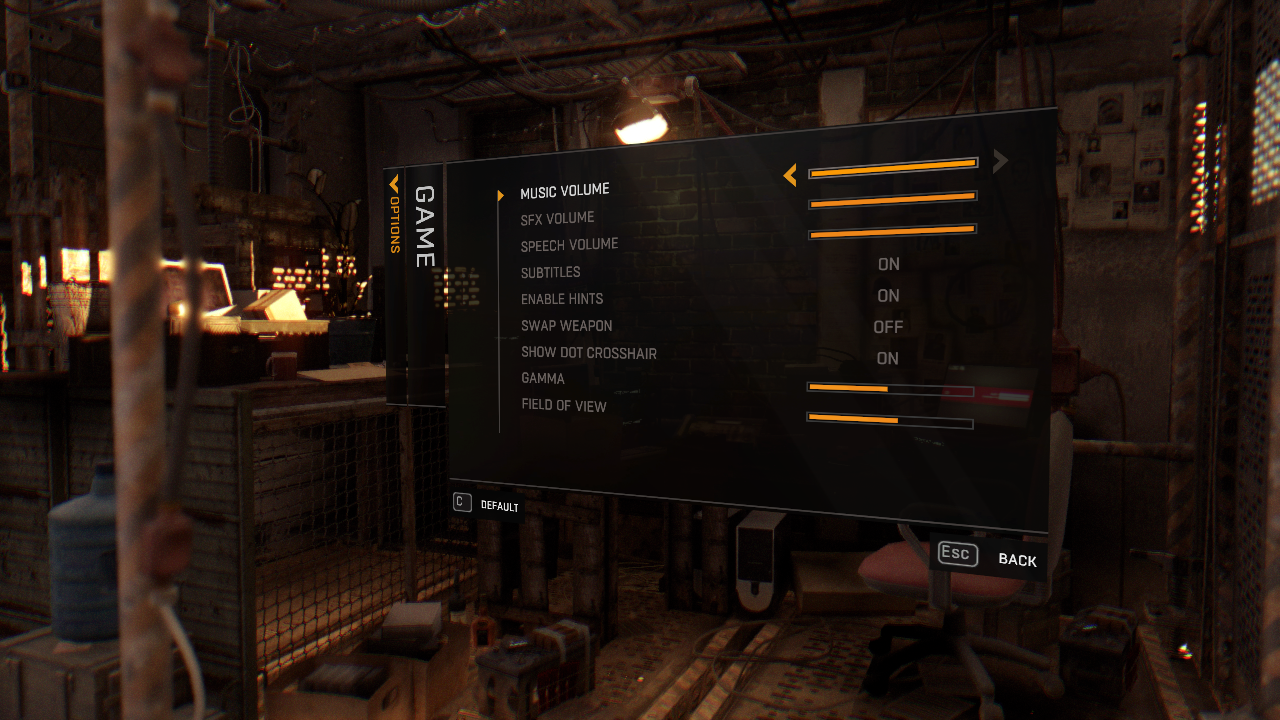 DyingLight game settings